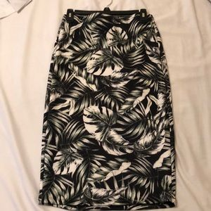 Forever 21 tropical print pencil skirt sz L